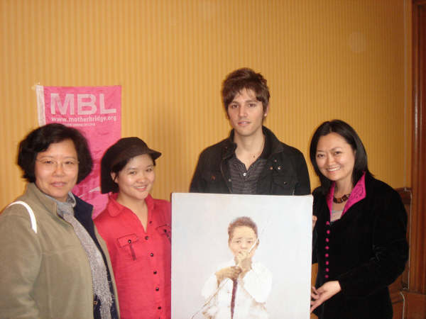 Wang Ying, the painting of Sichuan boy, and MBL CEO Wendy Wu